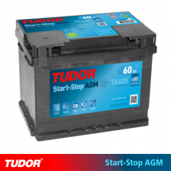 BATERÍA TUDOR AGM TK600 START STOP 60Ah 680A
