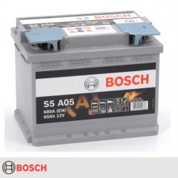 BATERIA BOSCH S5A05 60AH 680A AGM START STOP