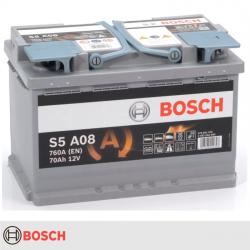 BATERIA BOSCH S5A08 70AH 760A AGM START STOP